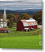Idyllic Vermont Small Town Metal Print