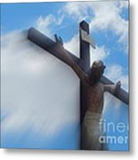 Iesus Nazarenvs Rex Ivdaeorvm Accession  At St. Joseph Church Garden In New Orleans Louisiana Metal Print