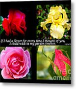 If I Had A Flower Collage Metal Print