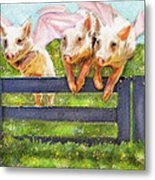 If Pigs Could Fly Metal Print by Jane Schnetlage