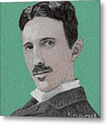 If You Could Read My Mind...tesla Metal Print