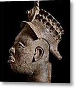 Ife Bronze Royal Head Portrait Metal Print