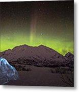 Igloo And Alaska Northern Lights  Metal Print