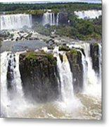 Iguacu Falls Brazilian Side Metal Print