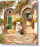 Il Cortile Metal Print by Guido Borelli