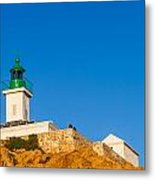 Ile Rousse Lighthouse In Corsica Metal Print