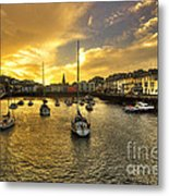 Ilfracombe Harbour At Dusk  Metal Print