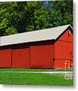 Illinois Red Barn Metal Print