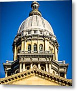 Illinois State Capitol Dome In Springfield Illinois Metal Print