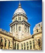 Illinois State Capitol In Springfield Illinois Metal Print