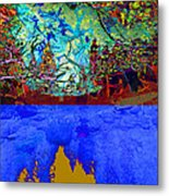 Illusion Of Lake And Forest Metal Print