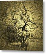 Illusion Tree Metal Print