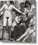 Illustration From La Maison Tellier By Guy De Maupassant  Metal Print