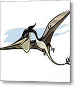 Illustration Of A Pteranodon Dinosaur Metal Print