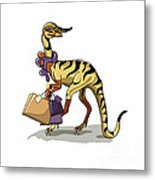 Illustration Of An Iguanodon Metal Print