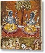 Illustration Of The Bhagavata Purana Metal Print