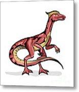 Illustration Of Velociraptor Metal Print