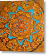 Illustrious Hue Mandala Metal Print