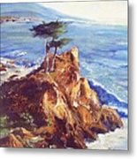 Imaginary Cypress Metal Print