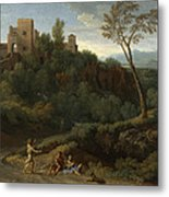 Imaginary Landscape With Buildings In Tivoli Metal Print