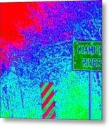 Imaginary River Crossing Metal Print