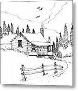 Imagination 1993 - Mountain Cabin Metal Print