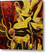 Imagination In Reds And Yellows Metal Print