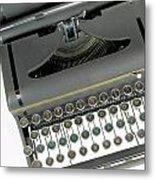 Imagination Typewriter Metal Print