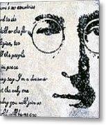 Imagine-john Lennon Metal Print