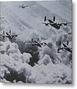 Imagine The Brave Men In These Bombers On A World War II Mission Metal Print
