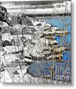 Imagined Snow At Hereford Inlet Metal Print