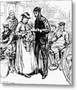 Immigrant Inspection, 1883 Metal Print