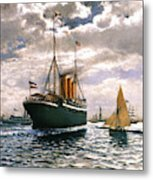 Immigrant Ship, 1893 Metal Print