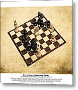 Immortal Chess - Byrne Vs Fischer 1956 - Moves Metal Print