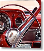 Red Belair With Dice Metal Print