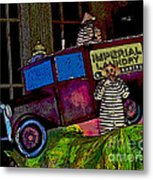 Imperial Laundry Truck Metal Print