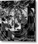 Impossible Reflections B/w Metal Print