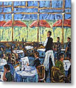 Impresionnist Cafe By Prankearts Metal Print