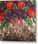 Impression Flowers Metal Print
