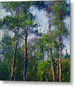 Impression Trees Metal Print
