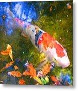 Impressionism  Koi 2 Metal Print
