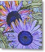 Impressionism Sunflowers Metal Print