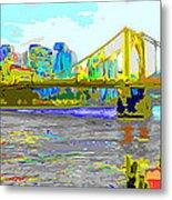 Impressionist Clemente Bridge 2 Metal Print