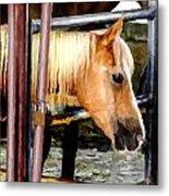 Impressionist Horse Metal Print