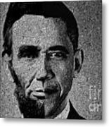 Impressionist Interpretation Of Lincoln Becoming Obama Metal Print