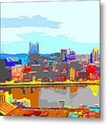Impressionist Pittsburgh Across The River 2 Metal Print