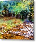Impressionist Rocky Creek Metal Print