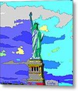 Impressionist Statue Of Liberty Metal Print