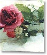 Impressionistic Watercolor Roses, Romantic Watercolor Pink Rose  Metal Print