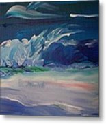 Impressionistic Abstract Wave Metal Print